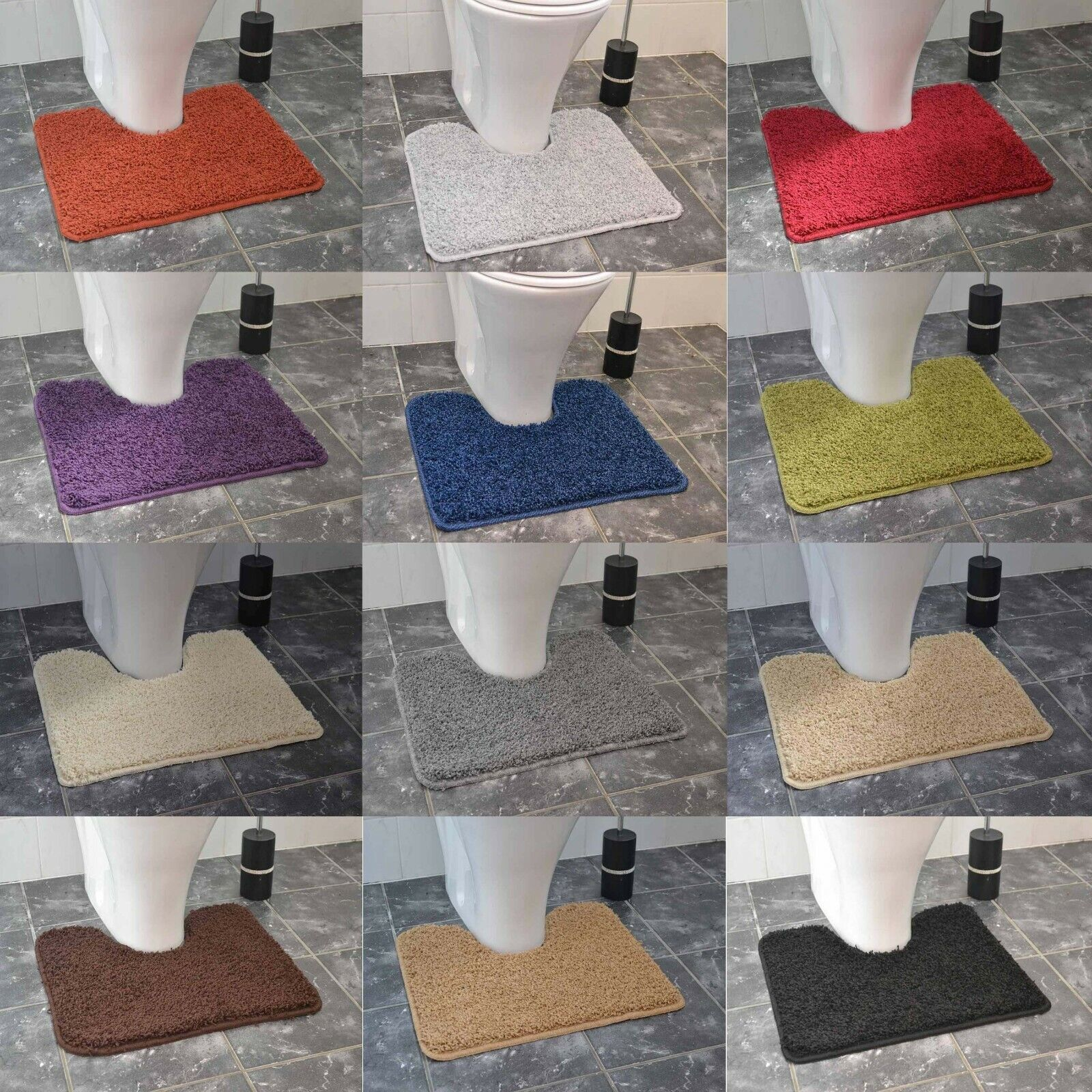 Soft Gy Bath Mats Rubber Backed