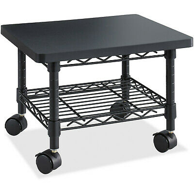 Safco Products Under-desk Printer 300lb Max Steel Frame Rolling Stand Black