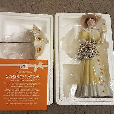 AVON 2012 Mrs. Albee President's Club Figurine Award with Certificate