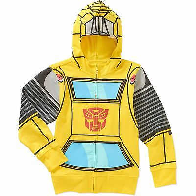 Transformers Bumble Bee Costume Zipper Front Hoodie Boy Size 7 - Male Bee Costume
