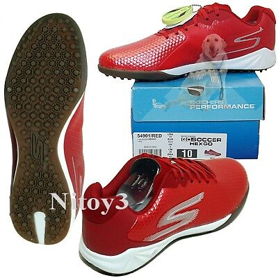 Artificial Turf Soccer Shoes (Skechers GO Soccer Hexgo Soccer Shoes For Artificial Turf Men Size 10 Red )