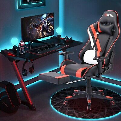 Pc Gaming Chair Massage Office Ergonomic Desk Racing Executive Pu Leather 2020