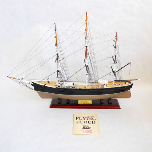 Piel Craftsmen Clipper Scale Model Ship Flying Cloud Mint Cond Basswood Mahogany