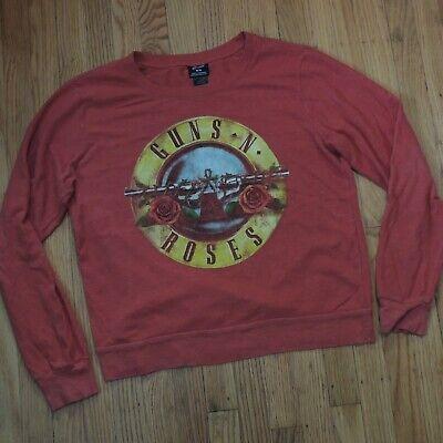 Guns n Roses Womens Bravado Sweatshirt Size Medium Red