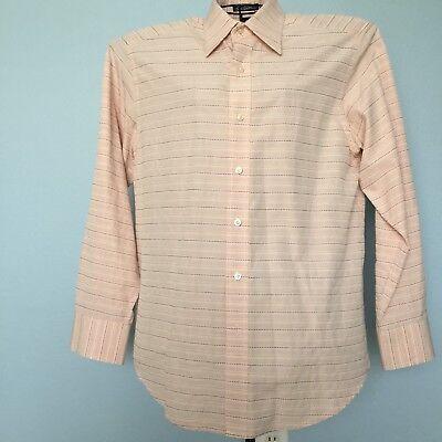 Robert Graham Shirt Casual Dress Striped Size Medium Blush