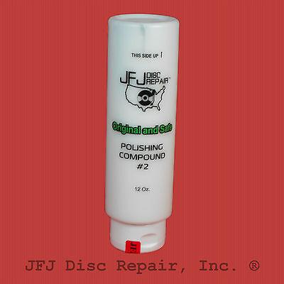 JFJ Advanced 12oz  EASY PRO White # 2 Polish Polishing Compound Solution 12 OZ
