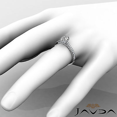 Circa Halo Bridge Accent Pave Oval Cut Diamond Engagement Ring GIA D VS2 1.15Ct 4