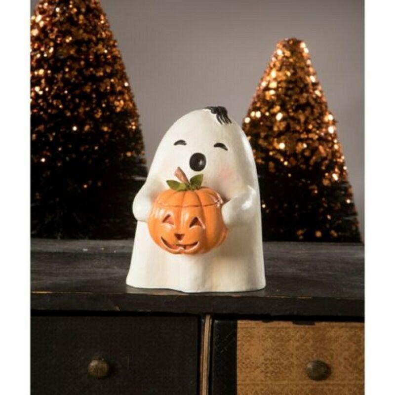 Bethany Lowe Halloween Ghost Gilbert with Pumpkin TL0245