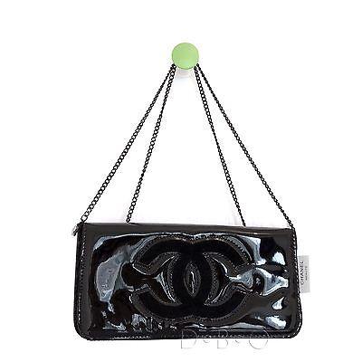 Chanel Beauty Vip Gift clutch cross body bag in Black with black cc logo