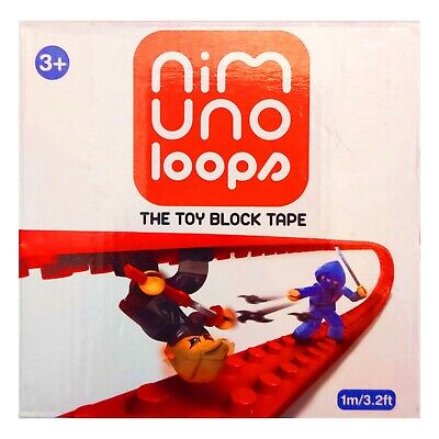 Nim Uno Loops - Toy Block Tape (Lego Tape) – Red, 2 stud