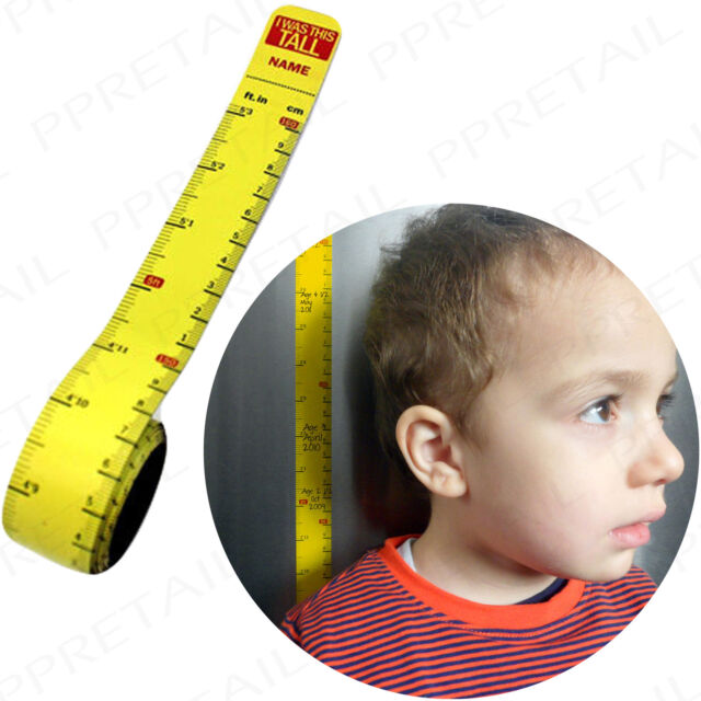 Magnetic KIDS HEIGHT CHART Removable Child Growth Measure Tall/Short Measurement