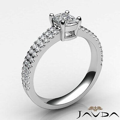 Cushion Diamond Engagement GIA G VVS2 18k Yellow Gold U Cut Prong Set Ring 0.8Ct 8