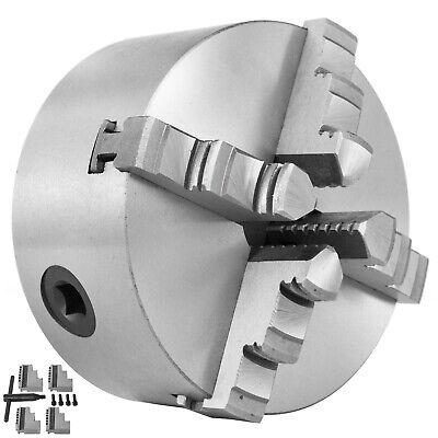 4 Lathe Chuck K12-100 4 Jaw Self Centering Milling Reversible Hardened Metal