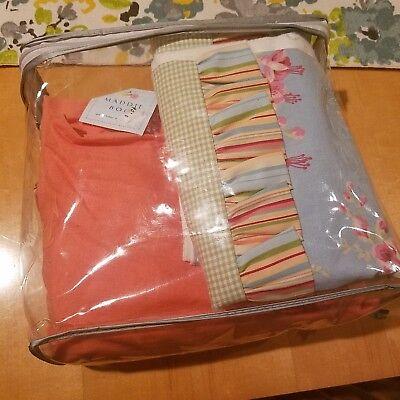 Maddie Boo Nursery Baby Crib Bedding Set - 3 Piece Floral & Striped Set Stripes Crib Baby Bedding