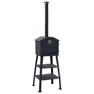 Vidaxl Outdoor Pizza Oven Charcoal Fred With 2 Freclay Stones