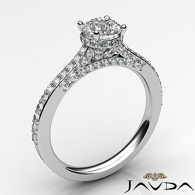 Circa Halo Micro Pave Set Round Diamond Engagement Ring GIA D Color VS2 1.15Ct  1