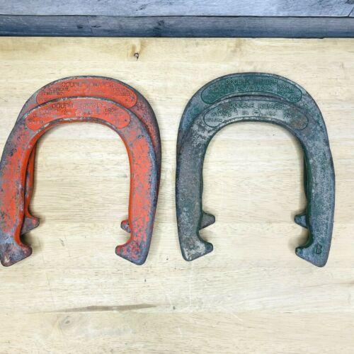 Vintage Set Diamond Duluth Double Professional Ringer Horseshoes 2.5 Lbs A & B