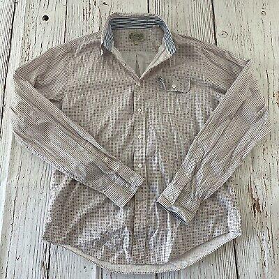 GANT Michael Bastian All Over Print Long Sleeve Button Front Shirt Men's XL