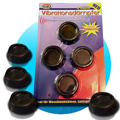 4x Vibrationsdämpfer Schwingungsdämpfer Waschmaschine Waschmaschinenfuß schwarz