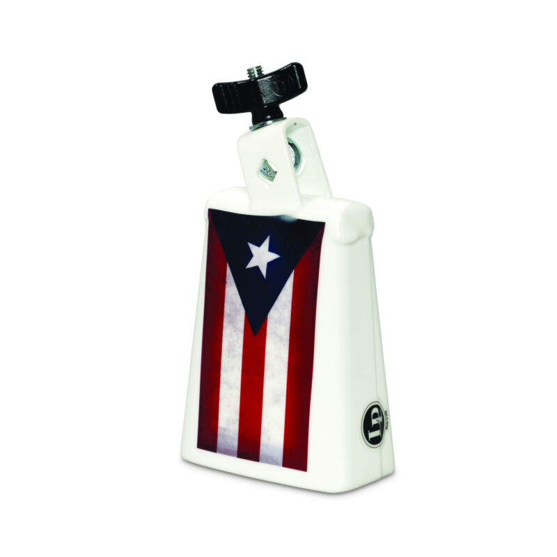Latin Percussion LP Collect-A-Bell Puerto Rico 5 Inch With 3/8 Inch Mount, White