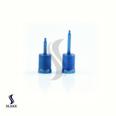 2x Dental Hand Hex Driver For Implant Abutment Screws 1.25mm Long Short Blue