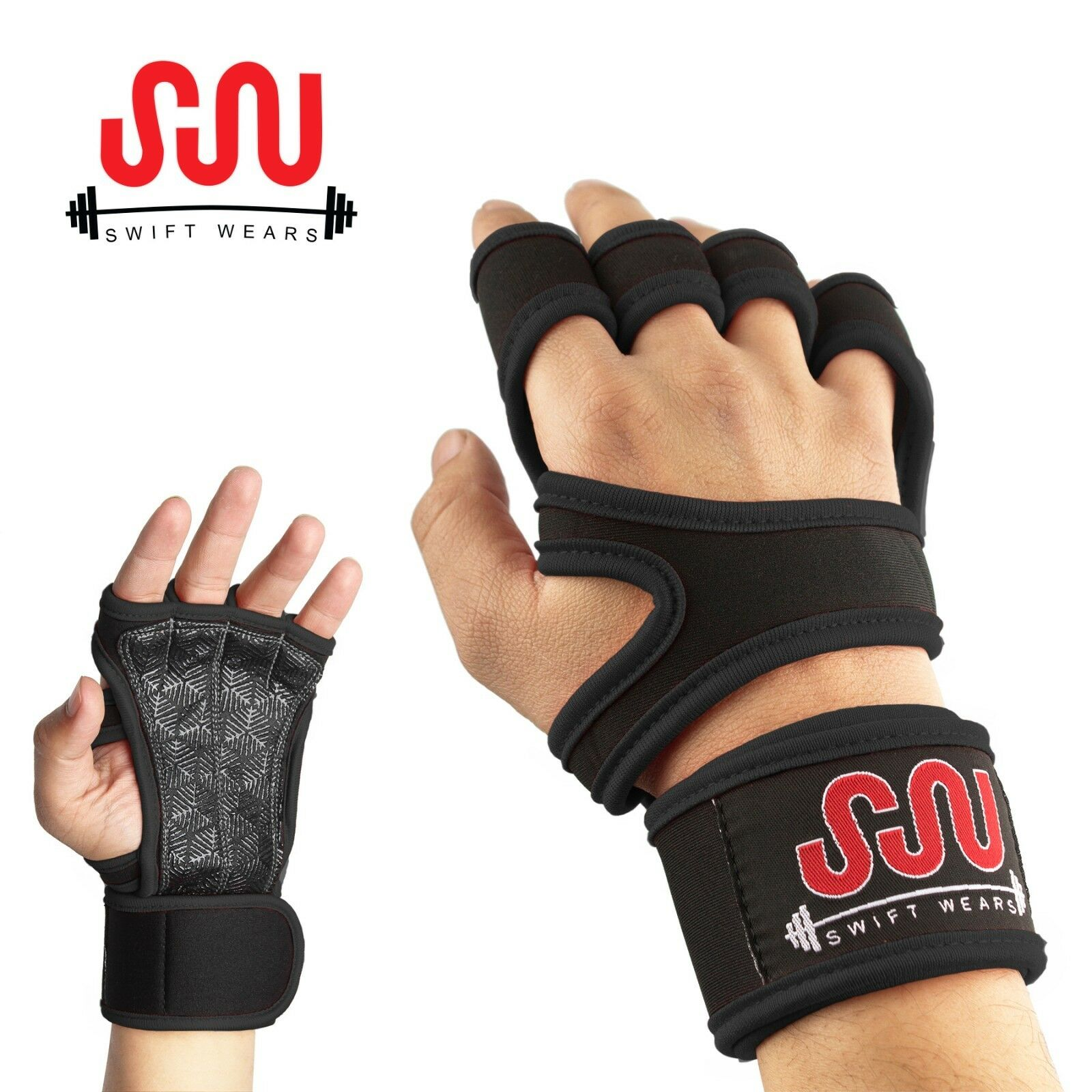 Full Palm Protection /&Extra Grip Workout Gloves for Men/&Women Glaring Way Weight Lifting Gloves with Built-in Wrist Wrap for Exercise