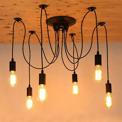 Vintage Industrial Ceiling Light Steampunk Loft Chandelier Pendant Light Lamp
