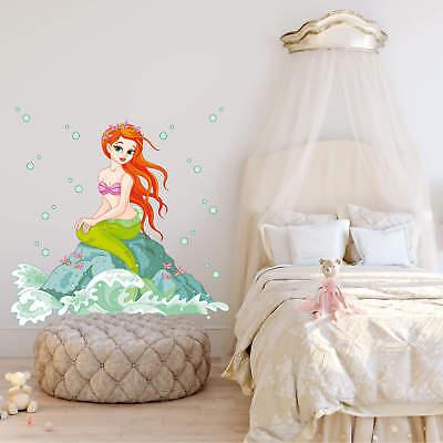 ne Meerjungfrau Wandaufkleber Wandfolie Klebebild Wanddeko  (Kleine Meerjungfrau Tattoo)