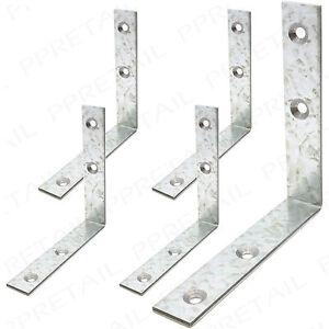 SMALL/LARGE STEEL RIGHT ANGLE BRACKET 4 x 25/50/75mm L Shape Corner Repair Brace