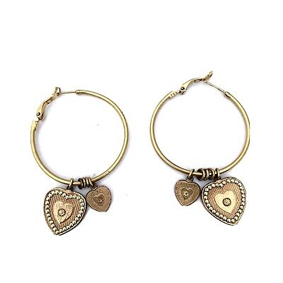 Gas Bijoux Love hoops- made in France 24ct gold plated Brass