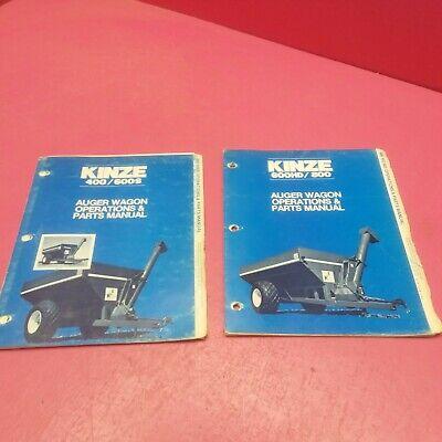 Kinze 400600s 600hd800 Auger Wagon Operations Parts Manual 12-82 Lt728