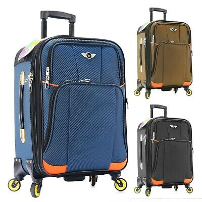 Carry on Luggage 22x14x9 Travel Lightweight Rolling Spinner Expandable -