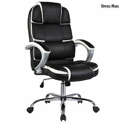 Leather High Back Executive Office Chair Swivel Desk Task Computer Ergonomic