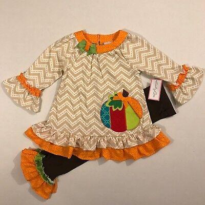 Emily Rose NWT 18M 2T 3T 4 5 6 8 Boutique Thanksgiving Pumpkin Halloween - Pumpkin Outfit Halloween