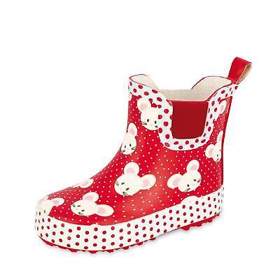 Beck Mädchen Gummistiefel PVC-Stiefel Regenstiefel Stiefel Schlupf Schuhe - Mädchen Stiefel Rot