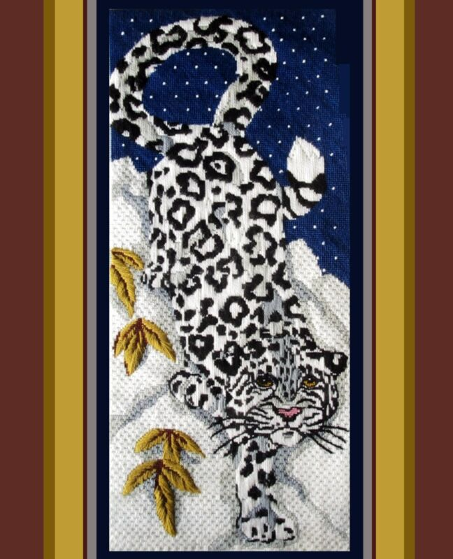 ***CLOSE-OUT***LONGSTITCH & NEEDLEPOINT*SPINNERIN * SNOW LEOPARD PANEL * KIT