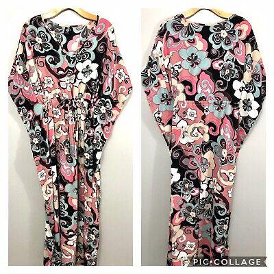 Agnes and Dora Tropical Floral Kaftan Kimono Dress Size Small Gorgeous