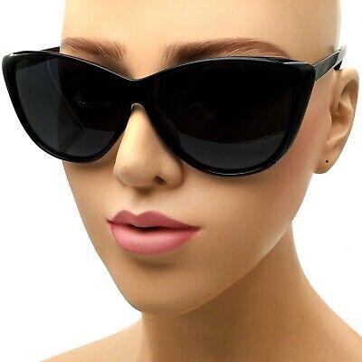 Black Cat Eye POLARIZED Sunglasses Retro Classic Vintage Design Women's Fashion (Women's Black Cat Eye Sunglasses)
