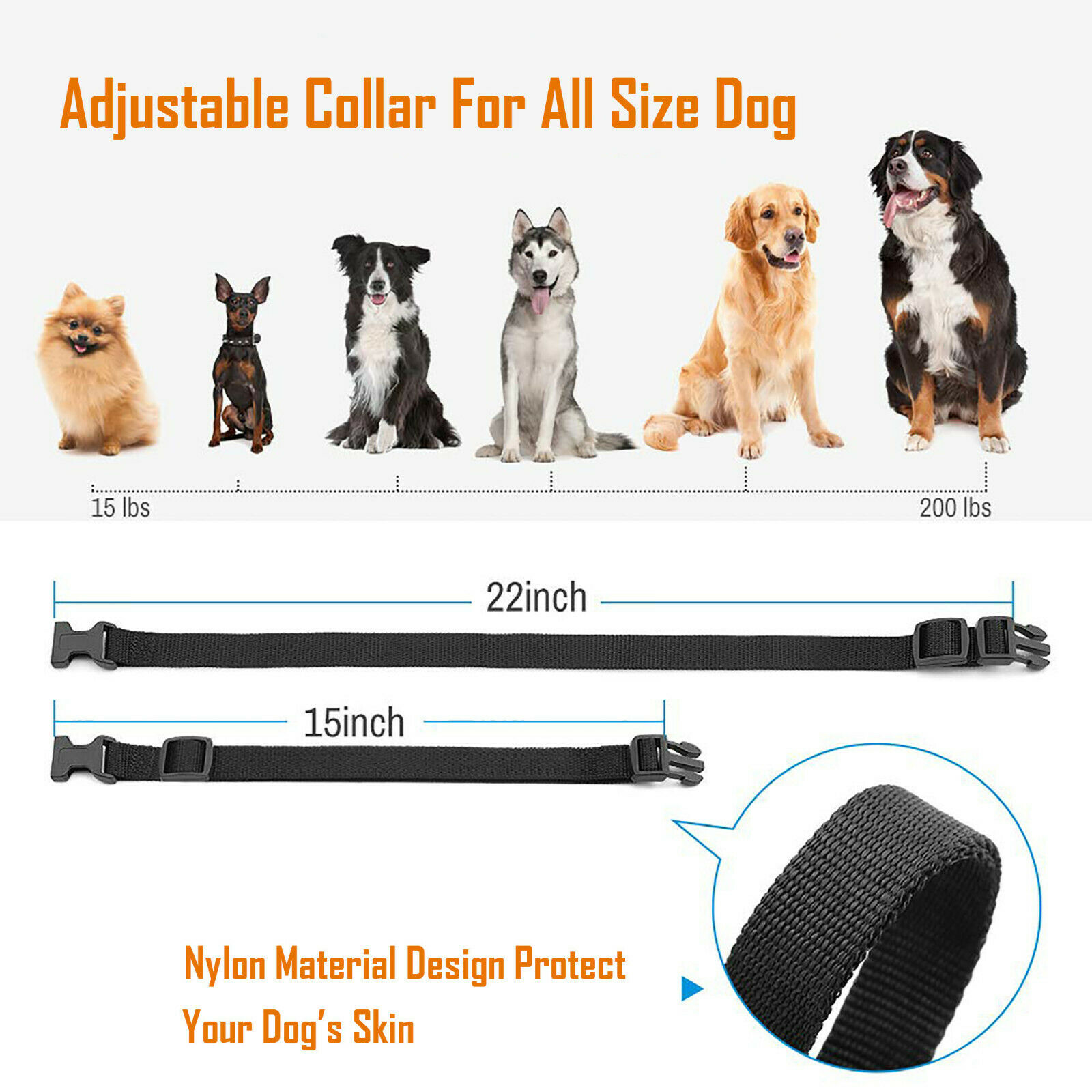 Electric Remote Dog Training Collar Rechargeable Shock Collar For 2 Dogs 330Yard Bark Collars