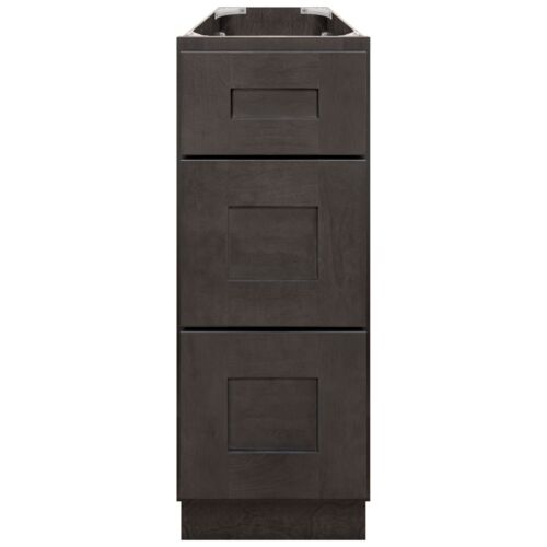 """12"""" Bathroom Vanity Drawer Base Cabinet Maple Dover Gray by LessCare"""
