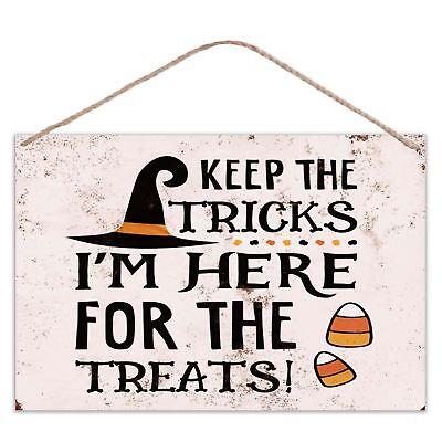 Halloween - Keep The Tricks Im Hier für die Snacks - Vintage Optik Metall Groß