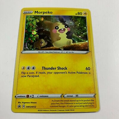 Pokemon TCG 1x MORPEKO Black Star Promo SWSH012 Holo NEW