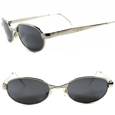 Classic True Vintage 80s 90s Urban Old Fashion Mens Silver Rectangle Sunglasses
