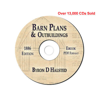 BARN-SMOKE HOUSE-BIRD HOUSE-BUILDING PLANS CD eBook PDF-Shed-Stable-Root Cellar