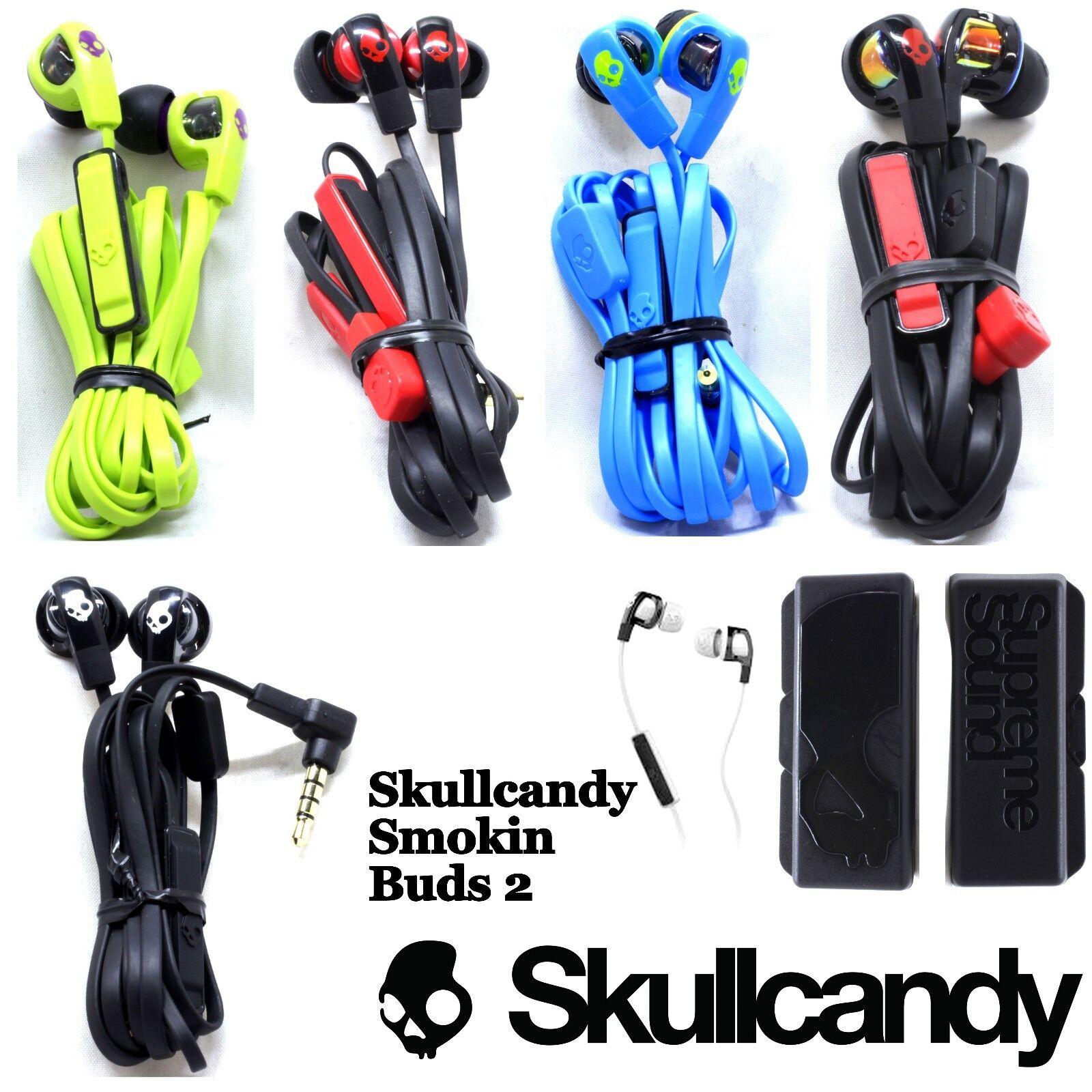 Headphones - Skullcandy SMOKIN BUDS 2 Supreme Sound Earphones Mic Blue Black Red White New