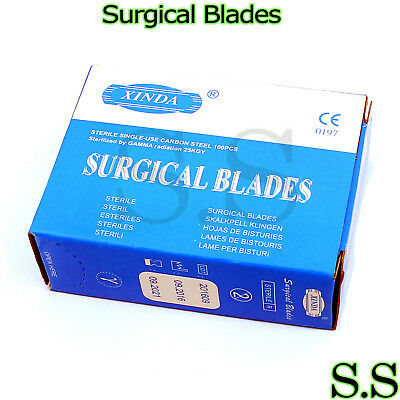 100 Surgical Scalpel Blades 15 Veterinary Instruments