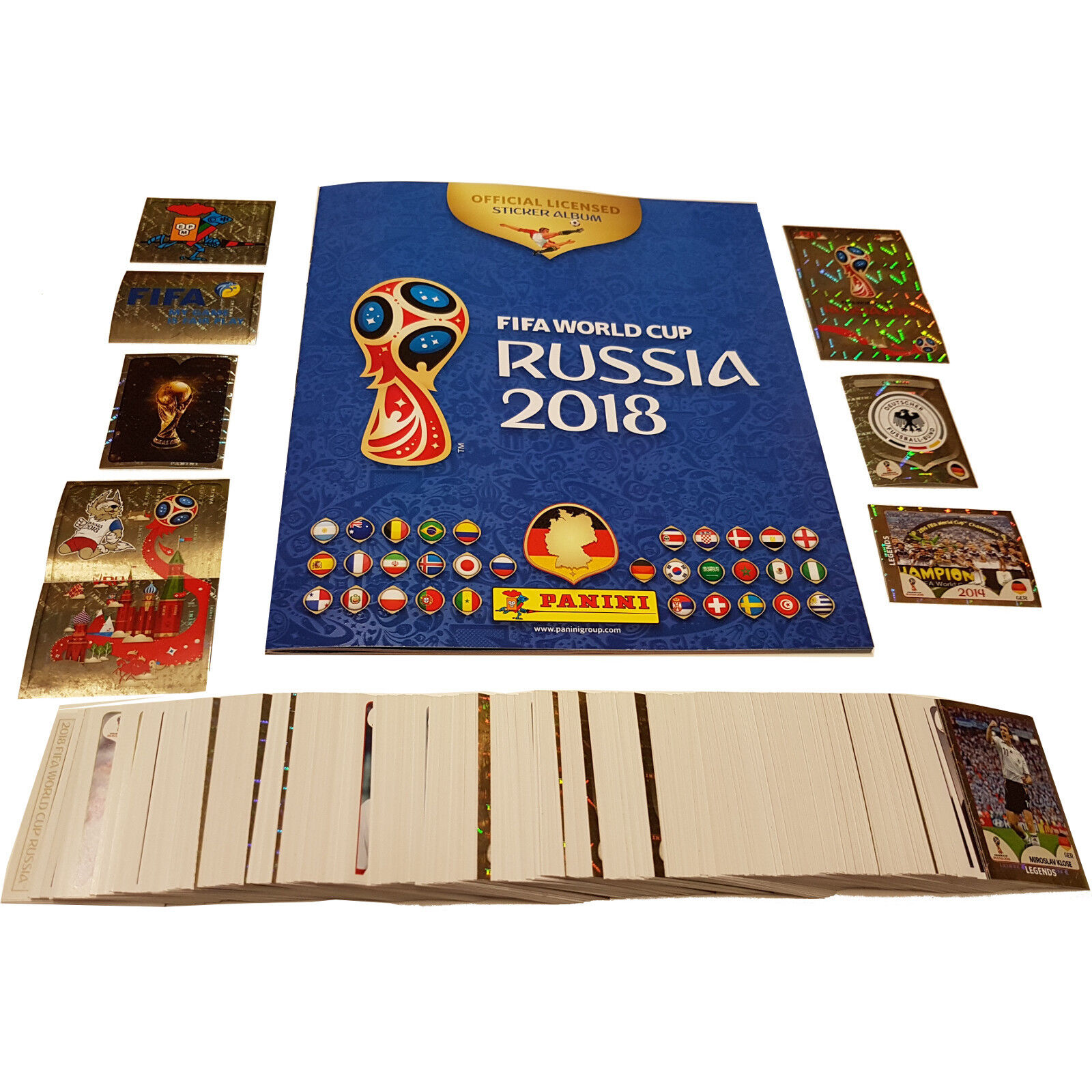 Panini Sticker WM 2018 Russia World Cup 5/10/20/30/50/100/200 Sticker aussuchen