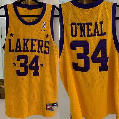 Nike NBA Los Angeles Lakers 57 Rewind Shaquille O'Neal #34 Mens Jersey Medium