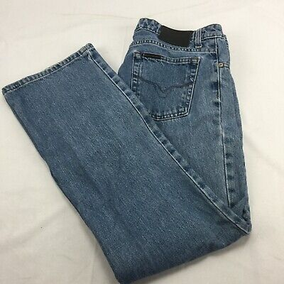 Harley Davidson Womens Blue Jeans Size 10 Light Wash Straight Leg Pants