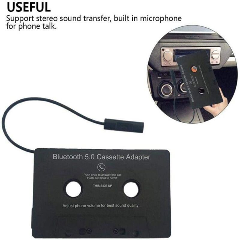 Bluetooth 5.0 Car Audio Stereo Sound Cassette Tape Adapter MP3 Hands-Free Aux US